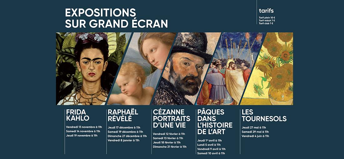 EXPOSITIONS SUR GRAND ÉCRAN